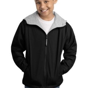 -NAVY YST241 L Sport-Tek Boys Sport-Wick Fleece Full-Zip Jacket